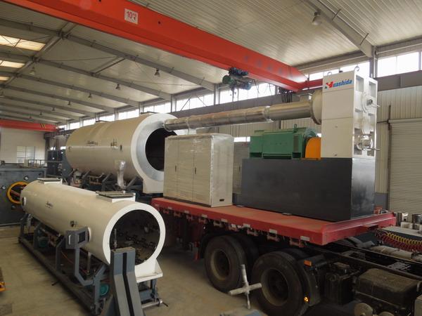 华仕达工匠打造的保温管生产线