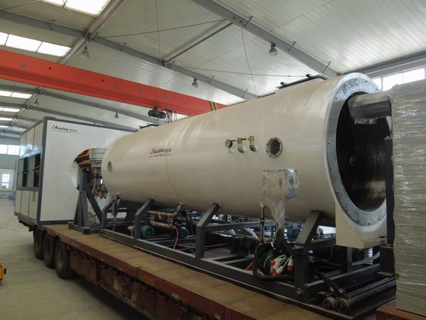 华仕达发往新疆的保温管生产线又上路了