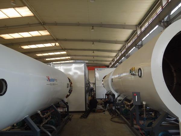 临沂客户一气干了1000吨料 用的是华仕达保温管生产线