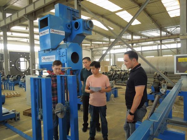 华仕达3PE钢管防腐生产线 哈萨克斯坦看中的是智能化