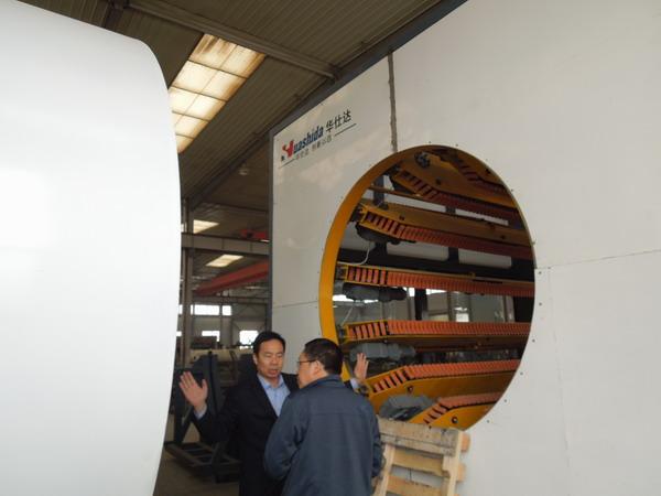 邯郸客户要华仕达黄总赶紧给他做 1680保温管生产线合同