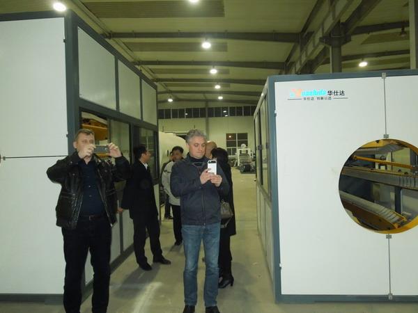 俄罗斯客户认为固液相分离是 华仕达保温管设备螺杆高效的关键