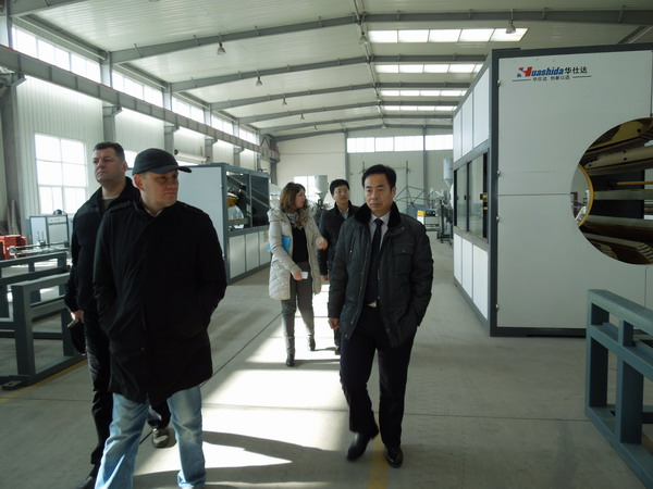 俄罗斯客户认为型号齐全华仕达保温管设备的优势