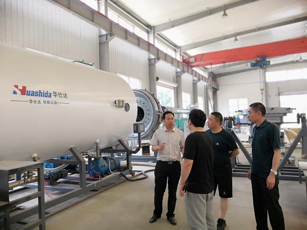 为了打造央企供热管道的形象工程  中核金山定购华仕达保温管生产线