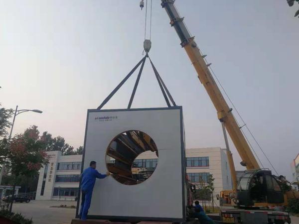 华仕达为曲格管业制造的保温管生产线发货了