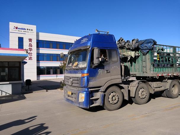 华仕达为潍坊客户生产的  橡塑发泡保温管设备发货了