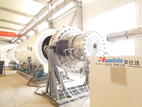 华仕达一拉就能出合格管材的保温管设备
