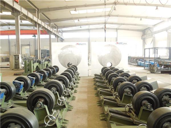 3PE防腐管生产线与华仕达的管道传动设备