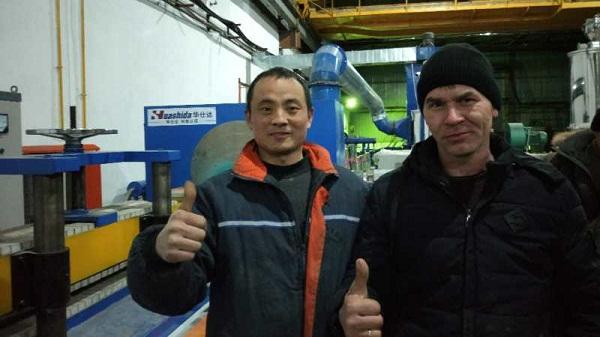 华仕达培养哈萨克斯坦3PE防腐生产线技术员工