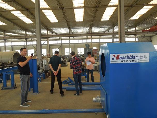 华仕达钢管外抛丸除锈生产线的优点
