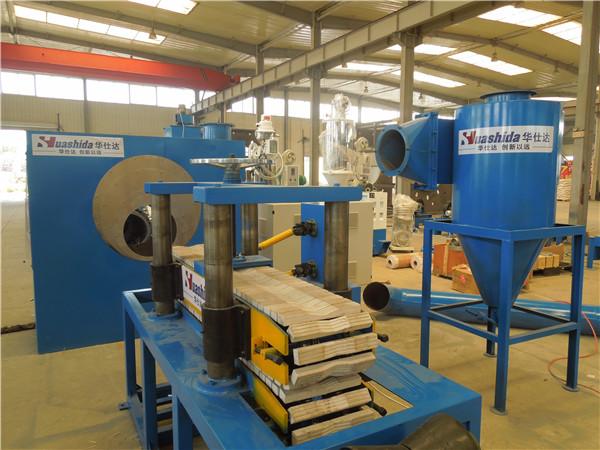 抛丸机滤筒式除尘器工作原理  及华仕达3PE防腐生产线