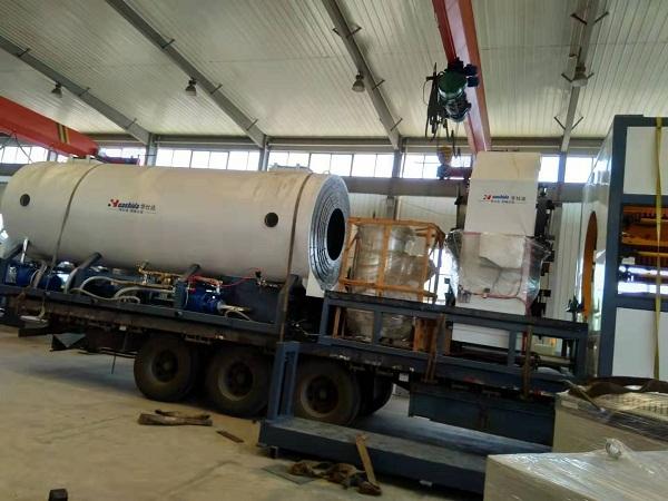 黄山购买的华仕达第二条保温管生产线发货了