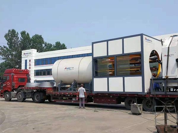 河北双欧订的华仕达Φ1860mm保温管设备发货了