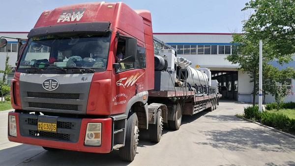 潍坊同义购买华仕达的600型保温管生产线发货了