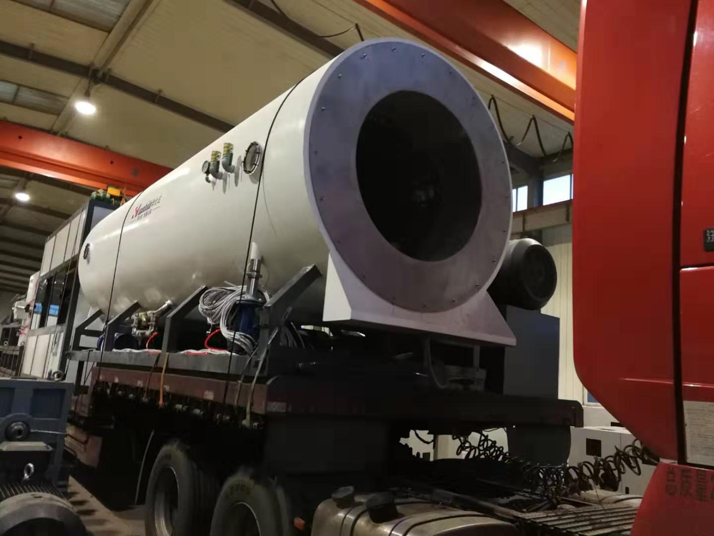 华仕达本周发第二台保温管生产线