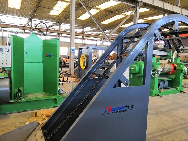 华仕达关于150型橡塑发泡保温管生产线方案