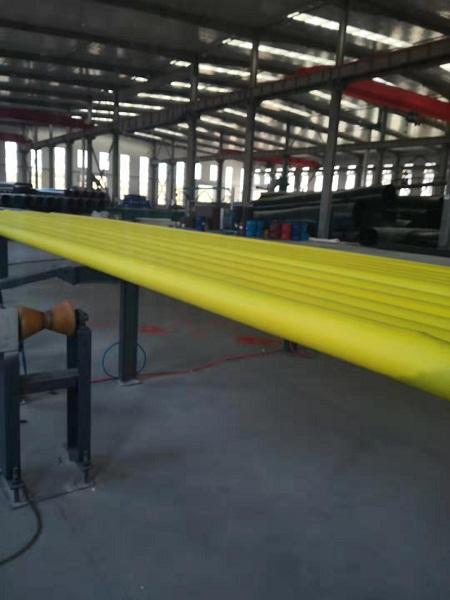 生产品质管材华仕达一步法聚氨酯保温管生产线能