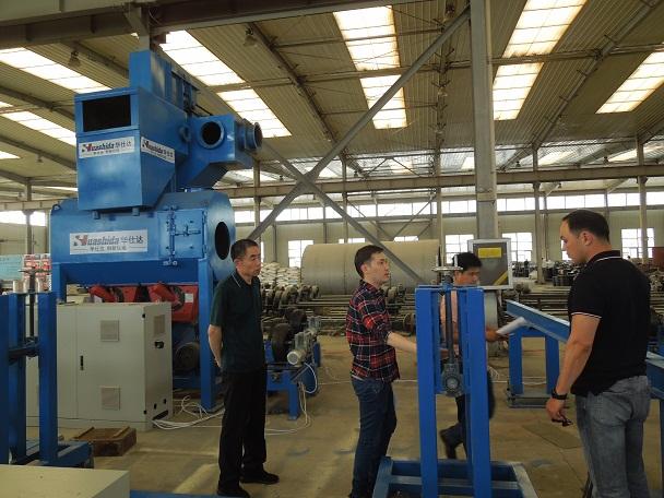 华仕达帮客户建设3PE钢管防腐生产线工厂