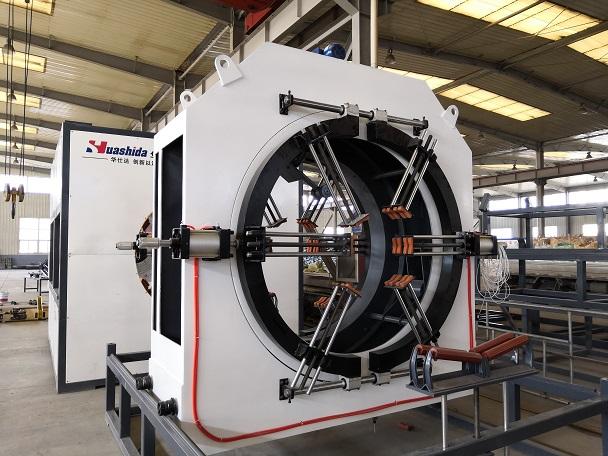 激光切割保证华仕达保温管设备牵引的流畅