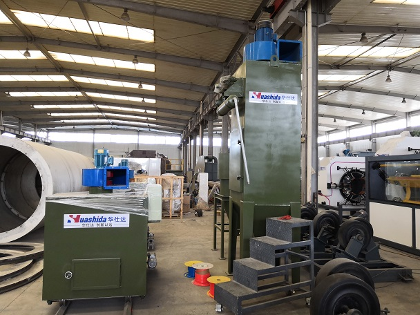 华仕达钢管内壁防腐和3PE钢管防腐生产线