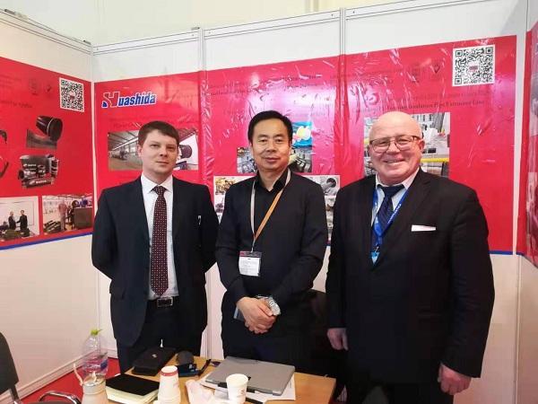 俄罗斯会展华仕达销售橡塑发泡保温管生产线成果丰硕