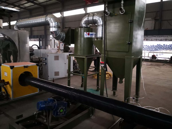 河北双欧称赞华仕达3PE缠绕防腐生产线  自动化程度特别高