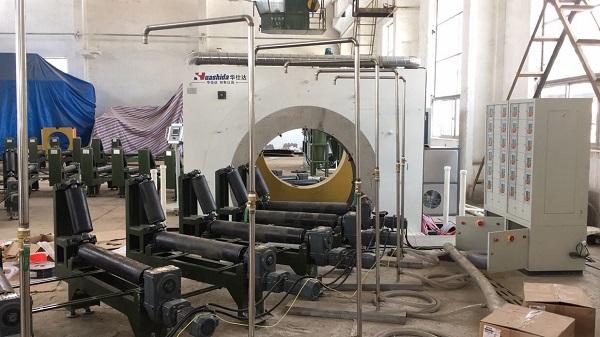 环境恶劣情况下的管材生产  可用华仕达3PE防腐弯管设备