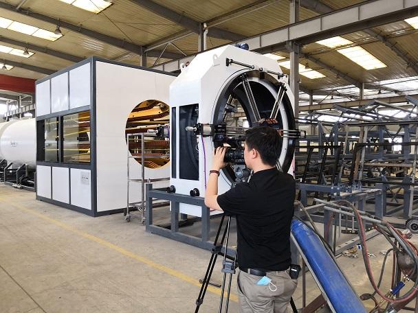 华仕达根据国家产业导向设计保温管生产线