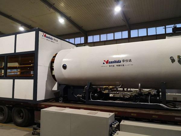 华创要的保温管生产线华仕达7天发货
