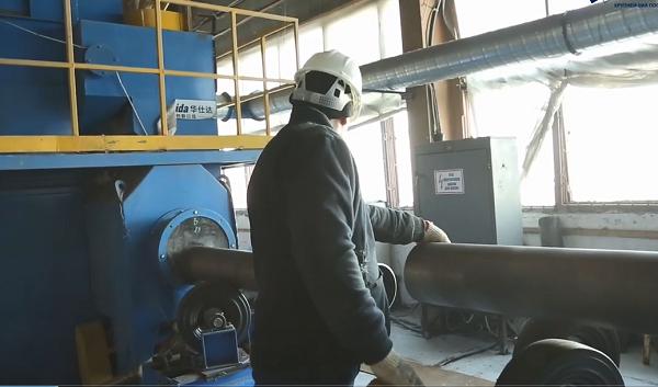 华仕达为哈萨克斯坦客户升级3PE钢管防腐生产线