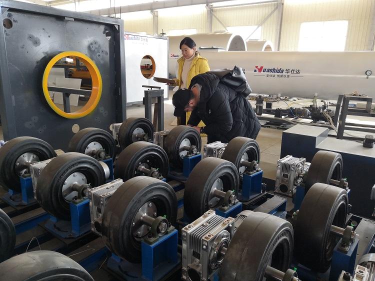 华仕达800型3PE钢管防腐设备顺利通过哈萨克斯坦客户验收