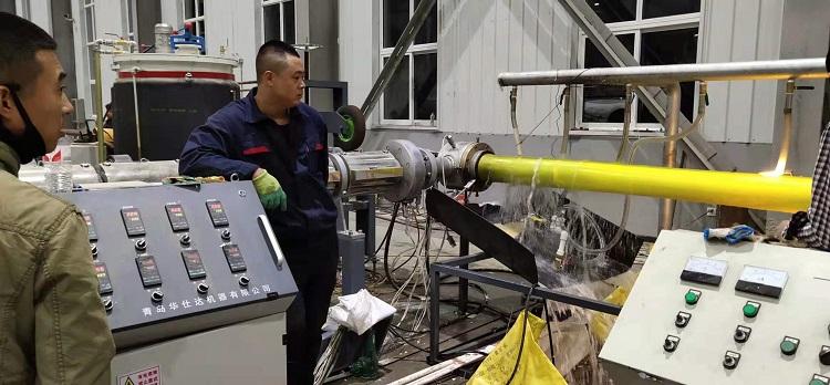 华仕达的一步法聚氨酯保温管设备克服了原有技术的不足