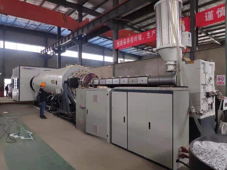 华仕达又一台1380型保温管设备在豫安投入生产