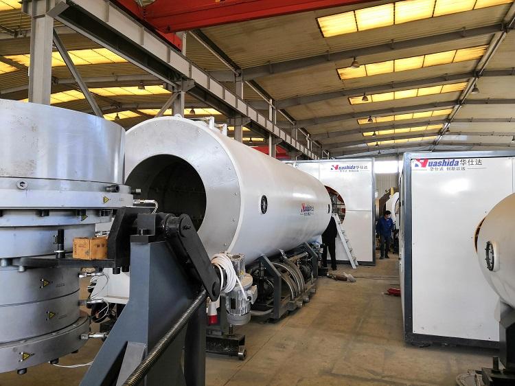符合国家产业导向政策华仕达设计保温管生产线