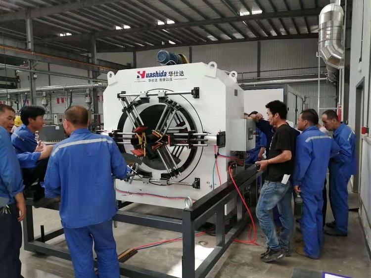 华仕达为青龙培养保温管生产线操作技术队伍