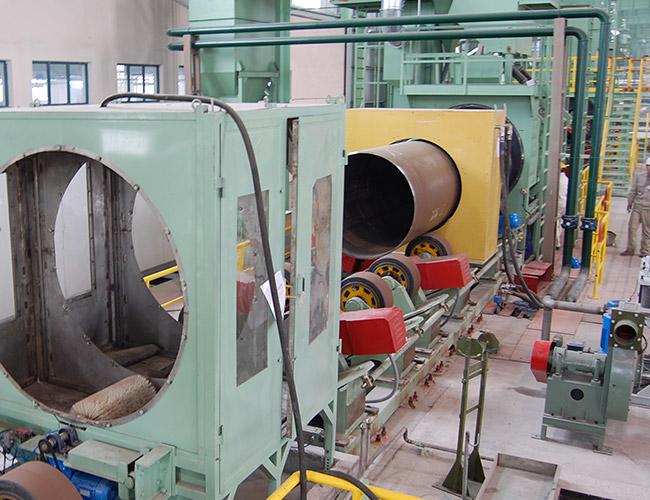 三层PE防腐管道生产线